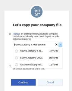 choose qbo company
