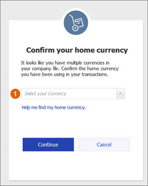 confirm home currency