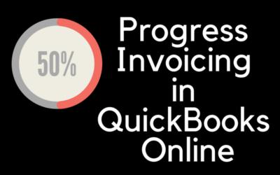 Progress Invoicing in QuickBooks Online is in Beta