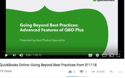 QuickBooks Online: Going Beyond Best Practices