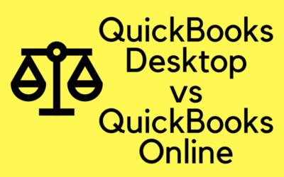 ADVANTAGES – QUICKBOOKS DESKTOP vs QUICKBOOKS ONLINE
