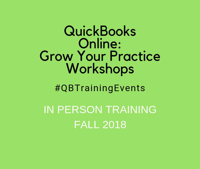QuickBooks Online: Grow Your Practice Workshops