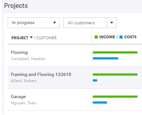 QuickBooks Online Projects – What's New