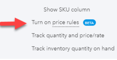 Discounts in QuickBooks Online Using Price Rules