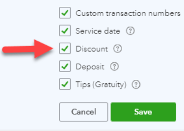 Discounts in QuickBooks Online Using Discount Setting