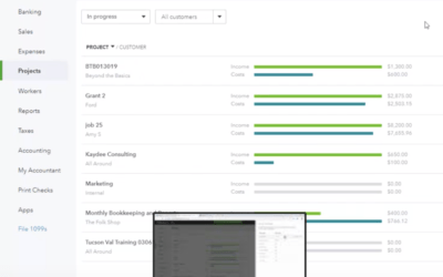 QuickBooks Online Projects Video by Woody Adams