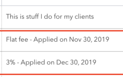 Using Late Fees in QuickBooks Online