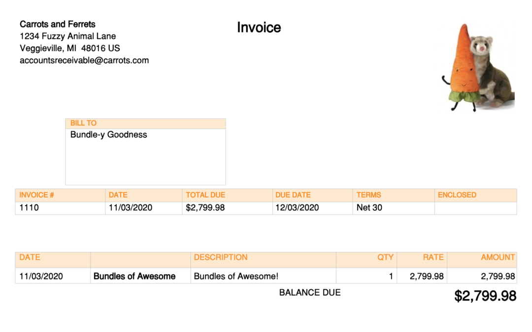 Add Billable Time or Billable Expenses to a Bundle Item in QBO